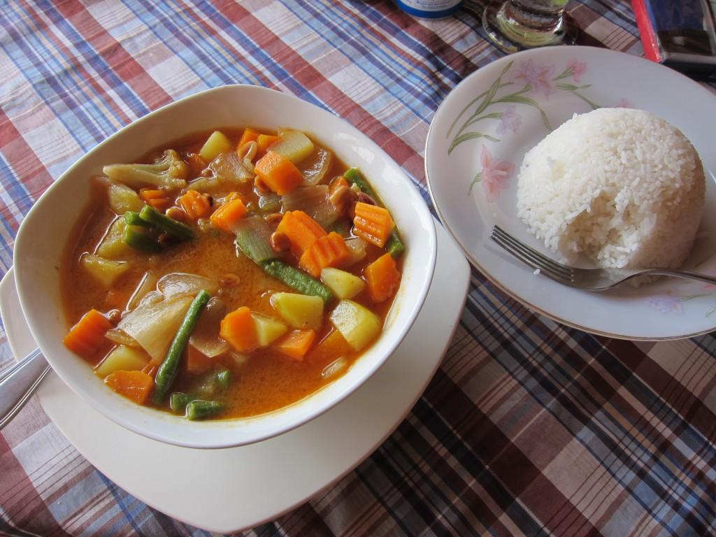 Vegetariánské curry