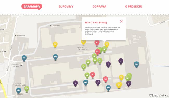 SapaMapa.cz . vietnamská tržnice Sapa mapa Praha