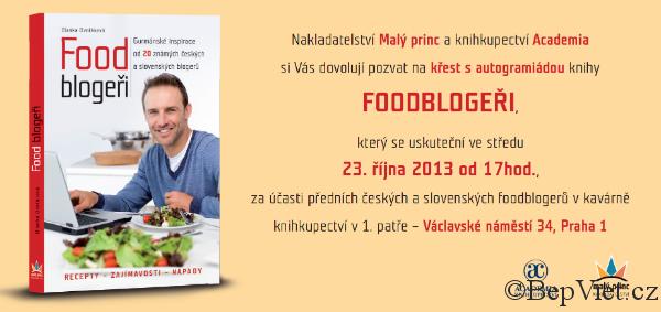 pozvánka na křest knihy Foodblogeři